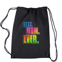 Best. Mom. Ever Mother's Day  Drawstring Backpack