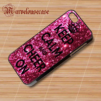 Keep Calm and Cheer On Cheerleading custom case for all phone case