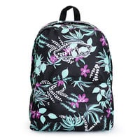 Vans Realm Black Floral Print Backpack