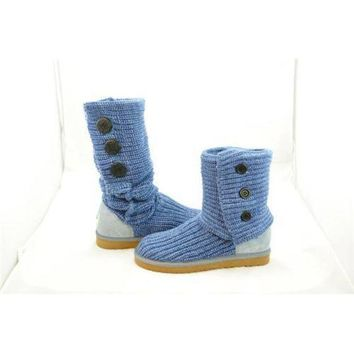 DCCKIN2 Ugg Boots Uk Knit Classic Cardy 5819 Blue For Women 81 14