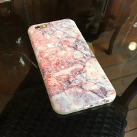 Womens Pink Marble iPhone 6 6s Plus Case Gift-132