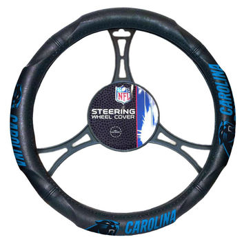 Carolina Panthers NFL Steering Wheel Cover (14.5 to 15.5)
