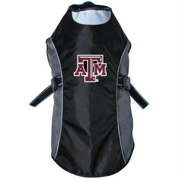 DCCKT9W Texas A&M Aggies Water Resistant Reflective Pet Jacket
