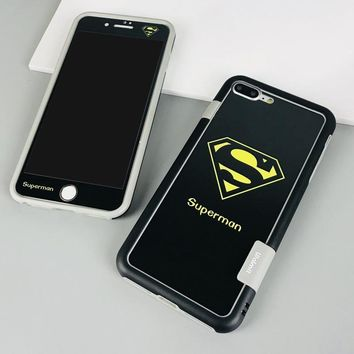 superman phone case   black for iphone 6/6s/7/8/plus