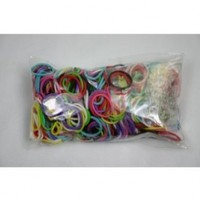 600 Latex-Free Rainbow Loom Band Refills and 24 Clips