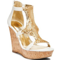 THALIA SODI SAUCO PLATFORM WEDGE SANDALS WHITE 9.5M
