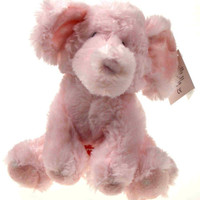 "8"" Russ Berrie Musical Pink Elliefumps Elephant Baby Toy Plush Brahm's Lullaby"