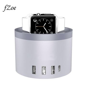 Mobile Phone Charger 5-Port 30W USB Desktop Charging Stand For Apple Watch Series 3/2/1 /iPhone X /8 /8 Plus Dock Station