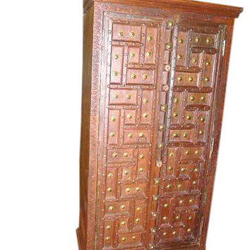 Vintage CENTURY Furniture Armoire Cabinet Teak Armoire Colonial India