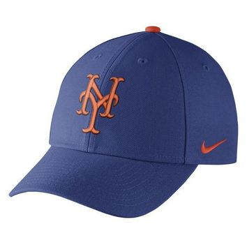 Men's New York Mets Nike Royal Blue Wool Classic Adjustable Performance Hat