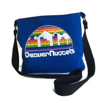 Denver Nuggets Bag Upcycled Tshirt Bag Crossbody Bag