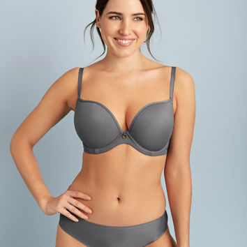 Amber Plunge Bra in Grey by Bravissimo