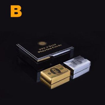 24K Gold+Silver Plated Cards & Box