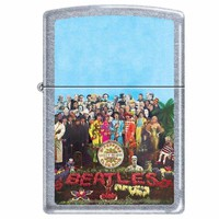 Zippo 1885 Classic Brushed Chrome The Beatles-Sgt Pepper Windproof Pocket Lighter