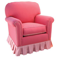 Angel Song 201821149Down Monaco Pink Adult Continental Glider Rocker w/ Plush Down Cushion