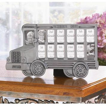 13-Year School Bus Picture Frame
