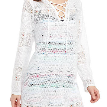 New Directions® Tribal Twist Hooded Swim Tunic