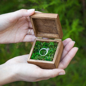 Ring Box Wedding Ring Box Personalized Rings Box Ring Bearer Box Proposal Ring Box Hearts