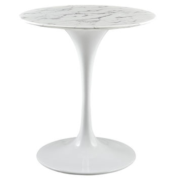"""Lippa 28"""" Artificial Marble Dining Table"""