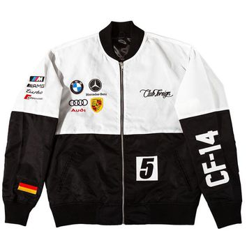ONETOW Club Foreign 2T Racer Jackets in White / Black