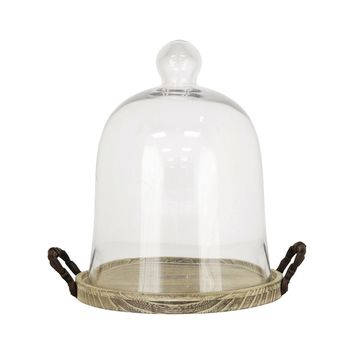 Campagne Dome Small Ashwood,Rustic,Clear Glass