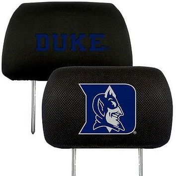Duke Blue Devils   2-Pack Auto Car Truck Embroidered Headrest Covers