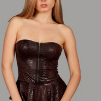Faux Leather Top - Clearance