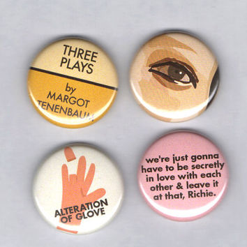 Margot  Tenenbaum Badge Set! -The Royal Tenenbaum - Wes Anderson Gwyneth Paltrow Gene Hackman