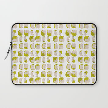 Eating process (Apple) // watercolor apple consumption Laptop Sleeve by Camila Quintana S
