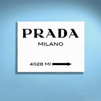 Digital Gossip Girl Inspired Poster Art Print Prada Marfa Prada Milano Printable Poster DIY - 13x19 or SMALLER