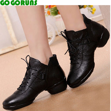 genuine leather breathable women jazz dance shoes ladies sport dancing shoes women girls modern salsa dance shoes sneakers 295e