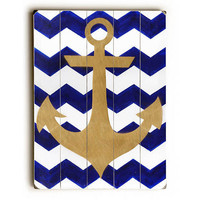 Chevron Anchor by Artpop Art Wood Sign