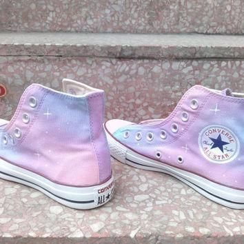 pink galaxy converse shoes custom converse galaxy converse sneakers hand painted on c