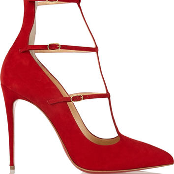 Christian Louboutin - Toerless Muse 100 suede pumps