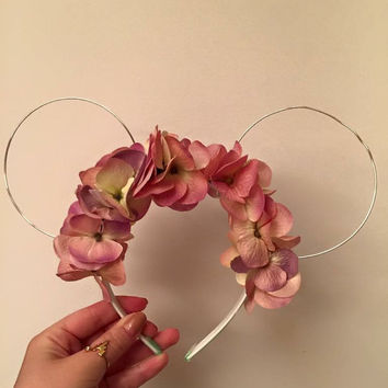 Pink/Purple Flower Crown