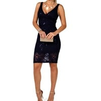 Lace Sequin Party Dress