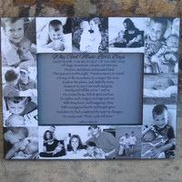 """Baby's First Year Picture Frame, Personalized Baby Frame, Unique Baby Photo Collage Frame, Unique Christmas Gift, NEW SIZE! 5"""" x 7"""""""