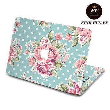 Flower  macbook skin stickers sticker Apple Mac laptop vinyl 3M surprise gift for her him beautiful 1-001AB
