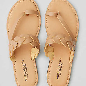 AEO Flat Braid Sandal , Natural
