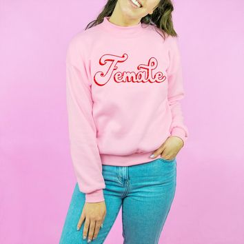 Female Mockneck Fleece Sweatshirt