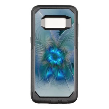 Standing Ovations, Abstract Blue Turquoise Fractal OtterBox Commuter Samsung Galaxy S8 Case