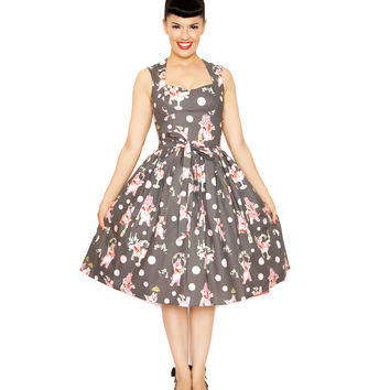 Bernie Dexter Pink Elephant Sugar Doll Dress - Unique Vintage - Prom dresses, retro dresses, retro swimsuits.