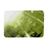 Green Abstract Illumination Bath Mat