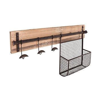 Entryway Wall Mount Coat Rack with Storage