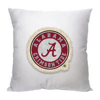 Alabama Crimson Tide NCAA Team Letterman Pillow (18x18)