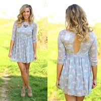 Blossom Dress in Grey