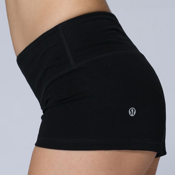 Lululemon Fashion Solid Color Short Yoga Sport Gym Tight Shorts