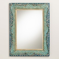 Hand-Painted Raya Scalloped Mirror - World Market
