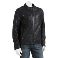 Rock & Republic Quilted Faux-Leather Moto Jacket - Big &
