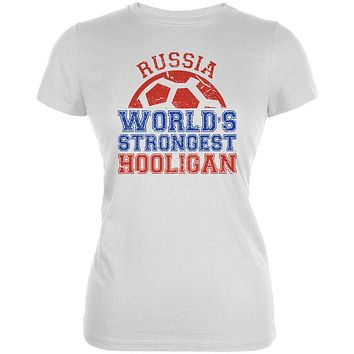 World Cup World's Strongest Hooligan Russia Juniors Soft T Shirt